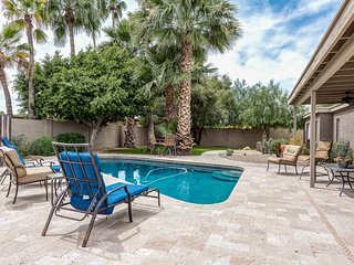 NEW LISTING! Gorgeous home w/backyard oasis -pool, bocce ball, patio, firepit