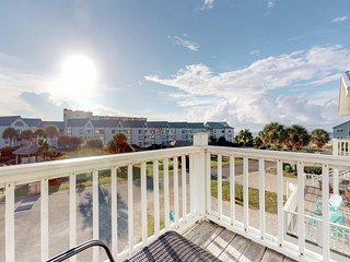 Duplex home w/ 2-level deck, beach access & shared pools/hot tub