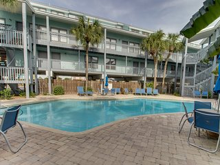 Stunning water-view condo w/ shared pool; steps away from the beach