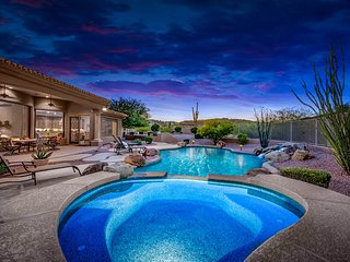 NEW LISTING! Decadent house w/pool, hot tub, gourmet kitchen & mountain views