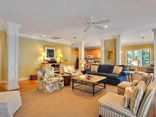 NEW LISTING! Woodsy home w/peaceful surroundings & pool near golf & tennis