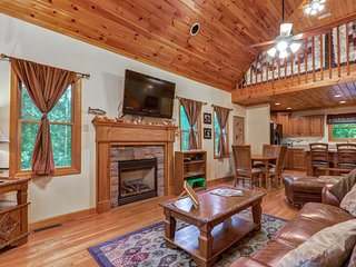 Woodsy cabin near Smokys w/private pool table - golf & fitness center