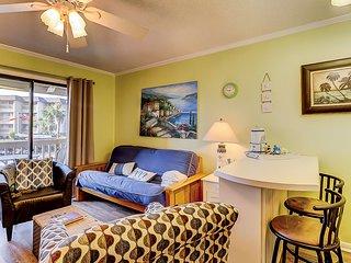 First-floor, oceanfront condo w/ shared pool, hot tub & tennis - ocean views!