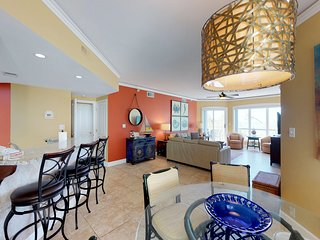 Vacation in this oceanfront villa with shared pools, hot tub, easy beach access