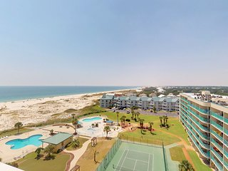 NEW LISTING! Modern condo w/ Gulf view, shared pools & hot tub, beach access
