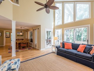 NEW LISTING! Spacious home on Cougar Point's 11th fairway-350 yards to the beach