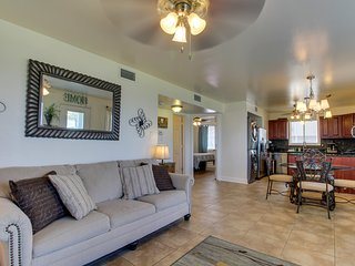 NEW LISTING! Updated condo w/ patio, shared pool, water access & Wolf Bay view!