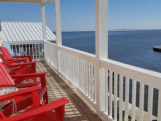 NEW LISTING! Dog-friendly home with amazing views, bay-side dock & spacious deck