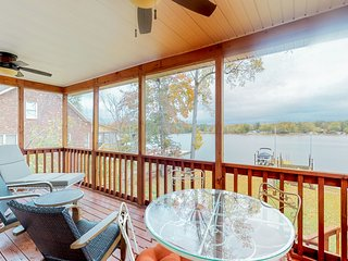 NEW LISTING! Family-friendly & dog-friendly lakefront home w/ dock and firepit