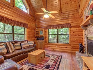 Creekside dog-friendly cabin w/ hot tub, deck & foosball - near nat'l park!