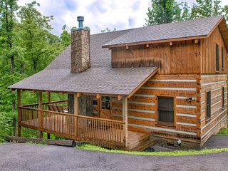 Dog-friendly mountain cabin offers great location, private hot tub, & much more!