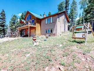 NEW LISTING! Hike, golf, fish & ski from lodge with hot tub, foosball & views!