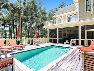 NEW LISTING! Luxurious, custom home w/ private pool & screened-in porch