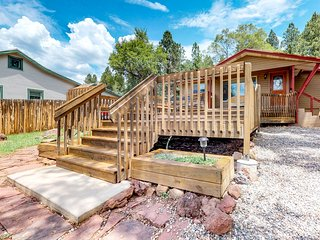 Downtown home w/ large deck, free WiFi & great views - dogs welcome!