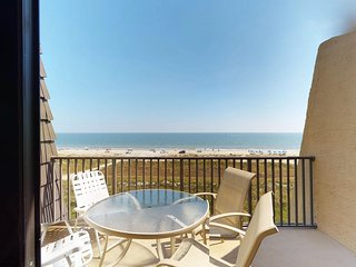 Quiet, waterfront condo with centrally-located pools and hot tub on-site
