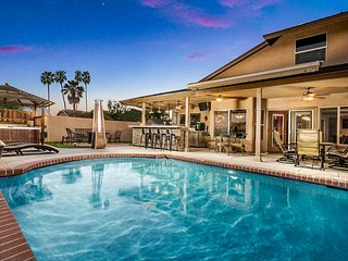 Recently remodeled home with a private pool, hot tub, backyard firepit!