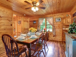 NEW LISTING! Cabin w/2 fireplaces & shared game room/screened porch-near pond