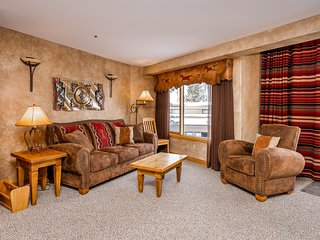 NEW LISTING! Ski-in/out from this unique Big Sky condo w/shared pool/hot tub