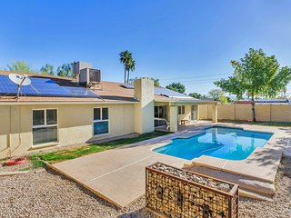 NEW LISTING! Trendy remodeled home w/mountain view & private pool, hiking nearby