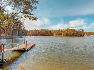 NEW LISTING! Dog-friendly, lakefront home with gazebo, dock, Ping-Pong, and more