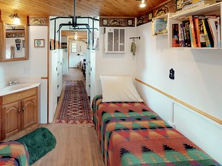 NEW LISTING! Unique caboose train car home w/deck  - great for hiking!