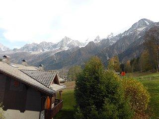 Joli Appartement charmant avec vue sur la chaîne du Mont-Blanc