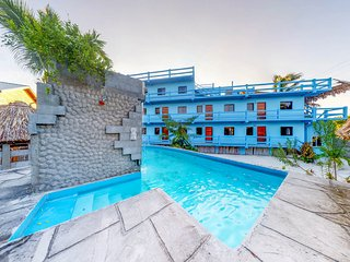 Family-friendly, multi-suite property w/private pool & sea views - beach nearby!