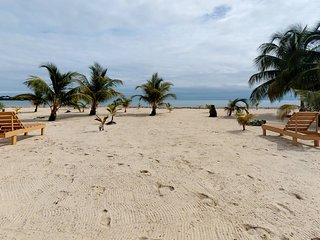Four private, beachfront condos right in town - great for group trips & families