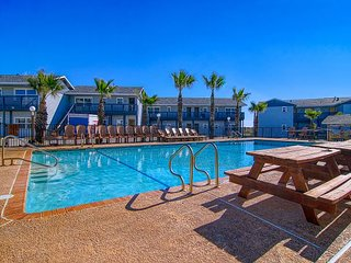 Sea Isle Village 2nd story condo, beach access, community pool, gulf views.