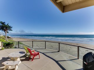 Classic Cayucos waterfront beach house with furnished deck and ocean views!