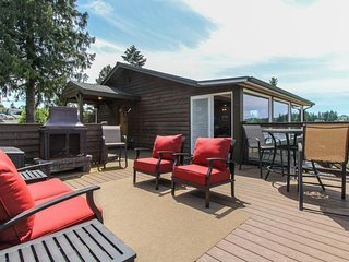 Waterfront dog-friendly home with stunning natural views and private hot tub!
