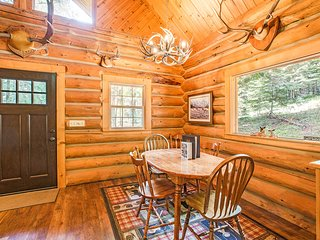 NEW LISTING: Secluded Log Cabin at Western Pleasure Ranch