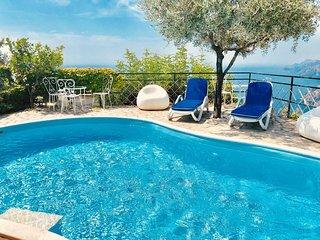Sea view, private pool villa in Positano - Nocelle - 3 bedrooms