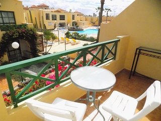 sunny duplex in the centre of Caleta