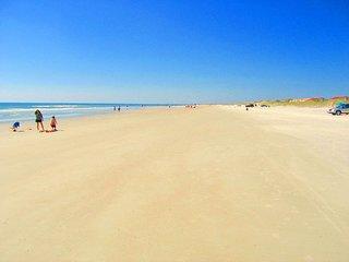 Miles of white sand beach.