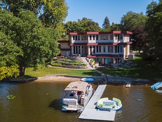 NEW! Lavish Lakefront Home w/ Patio on Long Lake!