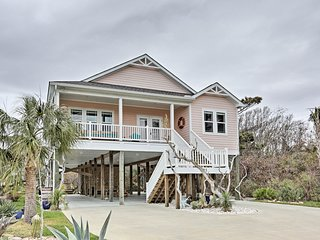 NEW! Spacious Oak Island Home - Walk to Beach!