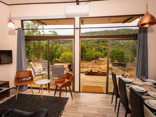 Cabaña Lodge para 6 personas en Pejerrey Rio Achibueno