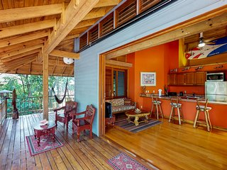 Ocean-view getaway with shared pool, dock, and open layout