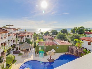 Condo in beachfront building with ocean view & shared pools