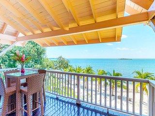NEW LISTING! Breezy beachfront villa w/veranda, hammock & amazing beach/sea view