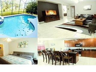 Executive 7BR/4.5Bath home near DisneyWorld with Pool/SPA/Game Room