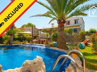 FISHERMAN :) Villa con encanto para 6 personas en Es Barcares, Alcudia. AC y WiF