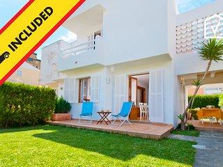 GAVINES :) Casa soleada para 4 personas en Playa de Muro. AC y WiFi gratis