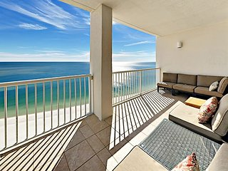 2 Balconies w/ Gulf Views! Island Tower 3BR Corner Condo w/ Infinity Pool