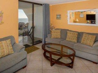 Gulf views from 7th floor | Outdoor/Kiddie pools, Hot tub, Tennis, BBQ, Pier, De