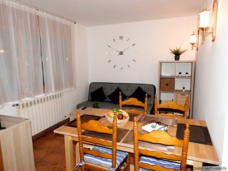 Spacious apartment in the center of El Tarter with Parking, Internet, Washing ma