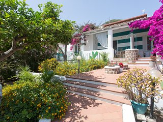 Family lodge very close to town with sea view and private garden