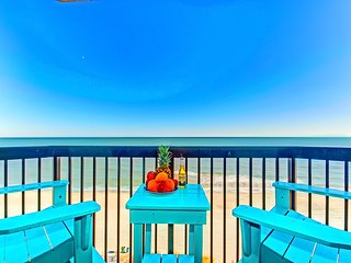 WOW COMPASS COVE END CONDO/KING/ CORNER/DIRECT OCEANFRONT/FIREPLACE60'TV/XBOXONE