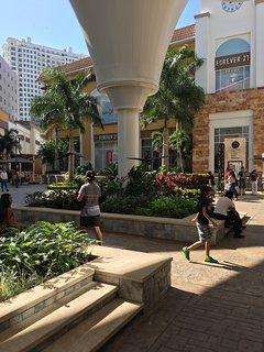 Shopping at La Isla mall across the street